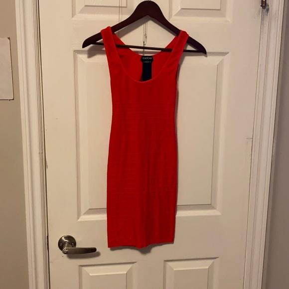 Orange Bebe Bandage Dress